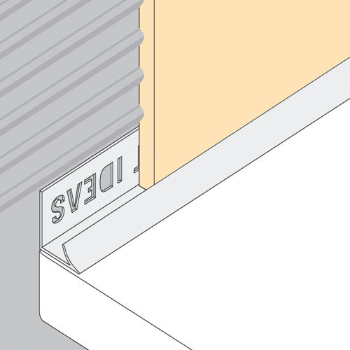 10mm Pvc Worktop Trim Internal Corner Tiling Store