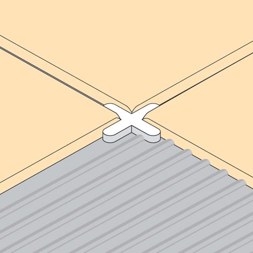 Floor tile spacer crosses 4mm long leg pack of 250 for 10mm floor tile spacers