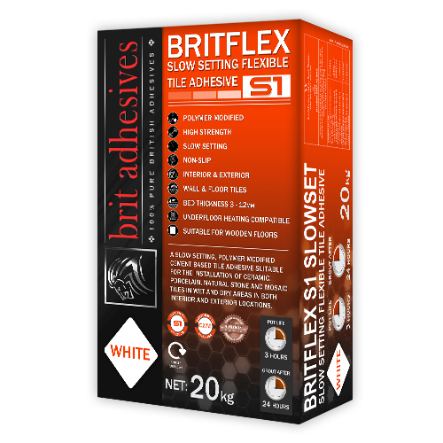 BRITFLEX S1 SLOWSET WHITE