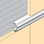 Aluminium Domed Listello