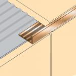 Aluminium Square Edge Brushed Nickel Trim
